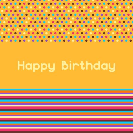 Happy birthday greeting card. Celebration or holiday background.