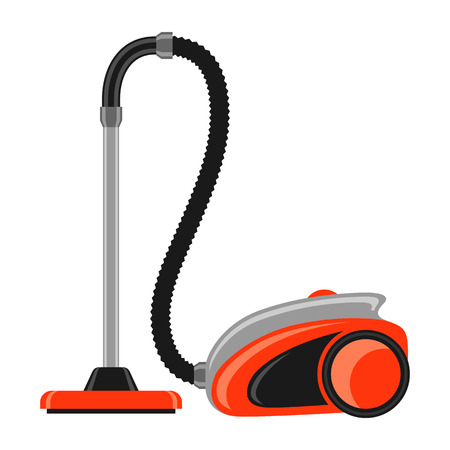 Icon of vacuum cleaner. Home appliance flat illustration.