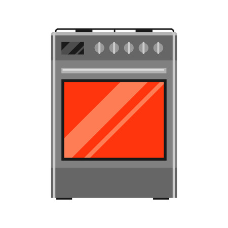 Icon of gas stove. Home appliance flat illustration.