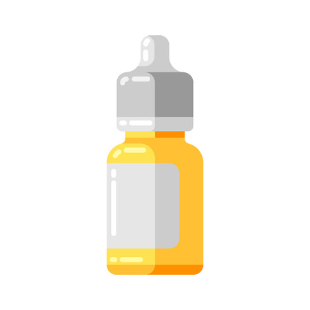 Medicine bottle icon in flat style. Banque d'images - 123252619