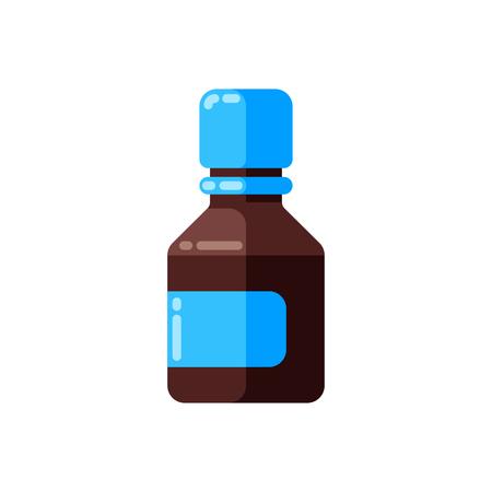 Medicine bottle icon in flat style.