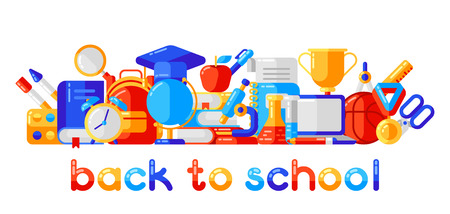 Back to school  with education icons. Ilustrace