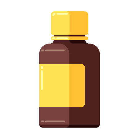 Medicine bottle icon in flat style. Banque d'images - 123252631