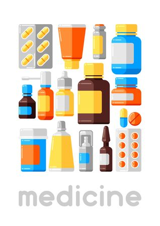 Medicine bottles and pills.
