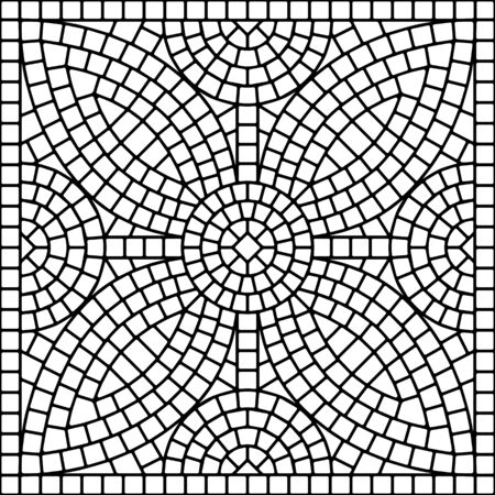 Ancient mosaic ceramic tile pattern. Illustration