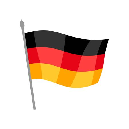 German flag illustration. National decorative object or icon.