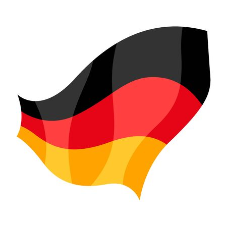 Banner of German flag colors. National decorative object. 일러스트