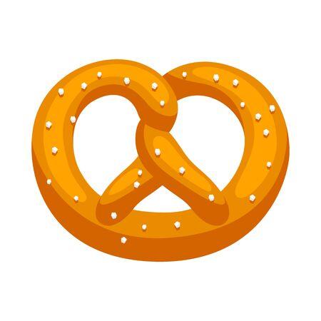 Fresh baked pretzel with salt. Illustration for Oktoberfest.
