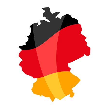 Map in the colors of the German flag. National decorative object. 일러스트