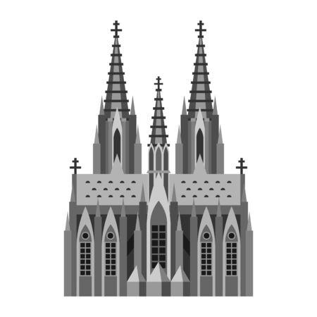 Römisch-katholischer Dom in Köln. Deutsche Wahrzeichen Abbildung.