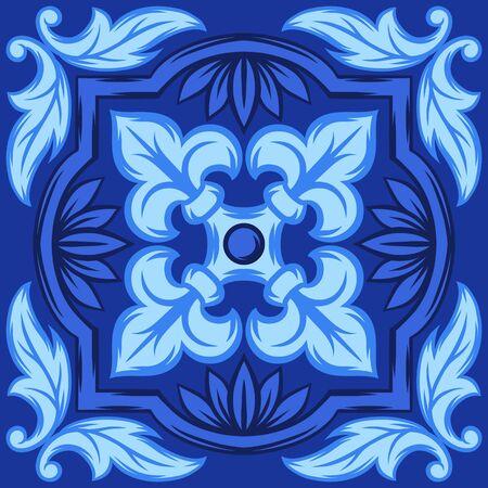Italian ceramic tile pattern. Ethnic folk ornament. Stok Fotoğraf - 130740227