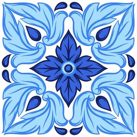 Italian ceramic tile pattern. Ethnic folk ornament. Stok Fotoğraf - 130740229