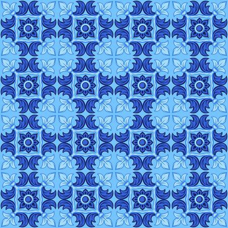 Italian ceramic tile pattern. Ethnic folk ornament Stok Fotoğraf - 130740230