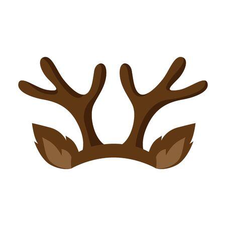 Joyeux Noël chapeau avec des cornes de renne. Accessoire pour festival et fête.