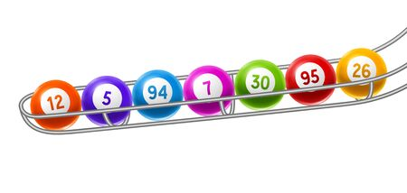 Bingo or lottery colored number balls. Background for gambling sport games.