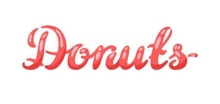 Donut colored lettering. Heading for a pastry menu or advertisement.
