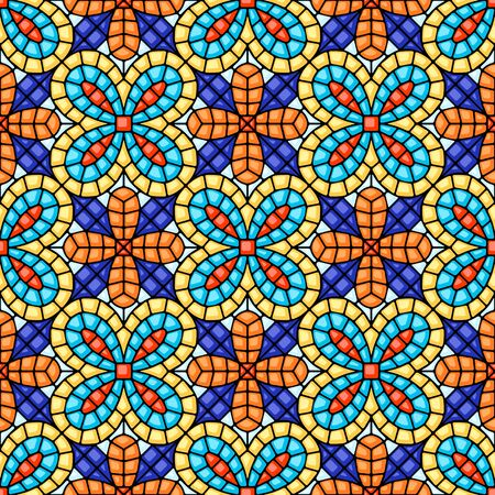 Ancient mosaic ceramic tile pattern. Illustration