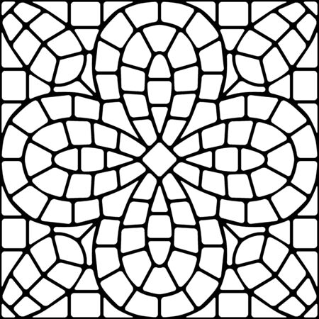 Ancient mosaic ceramic tile pattern. Иллюстрация