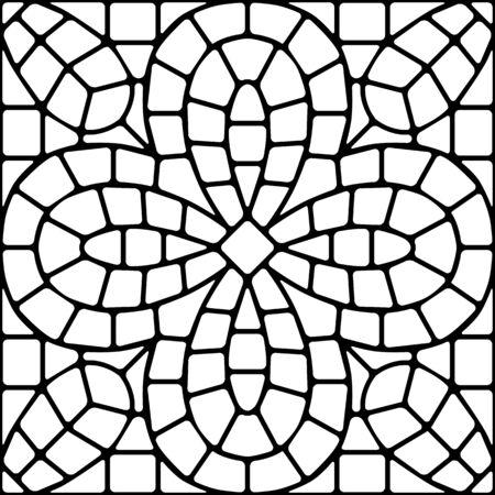 Motif de carreaux de céramique en mosaïque antique. Vecteurs