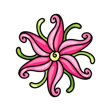 Illustration of decorative lily. Illusztráció