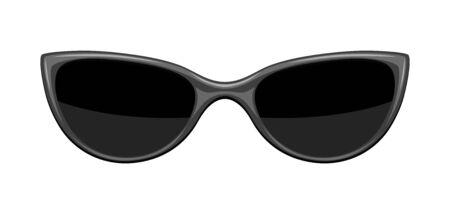 Illustration of stylish sunglasses. Black abstract fashionable accessory. Векторная Иллюстрация