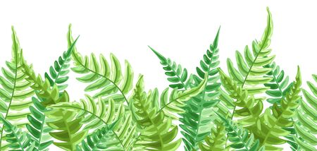 Seamless pattern with fern leaves. 向量圖像