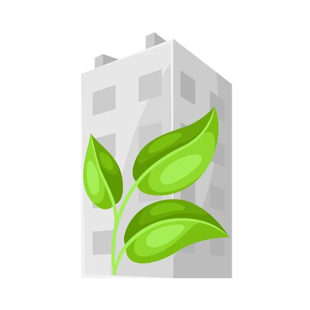 Green house concept illustration. Energy conservation and ecology natural materials. Ilustrace