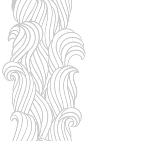 Seamless wave pattern. Background with sea, river or water texture. Wavy striped abstract fur or hair. Illustration