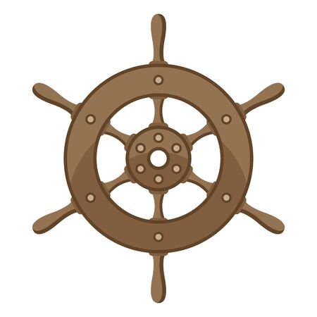 Illustration of ship steering wheel.