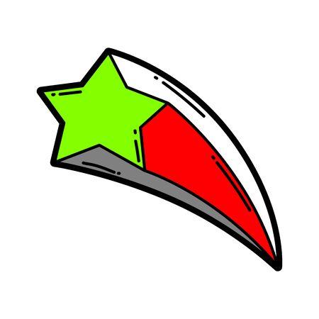 Illustration of cartoon star.
