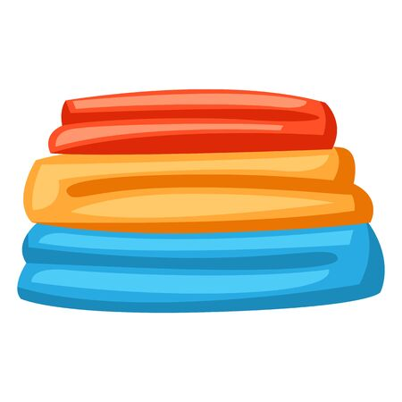 Illustration of stack folded clothes. Icon or image for laundry service.