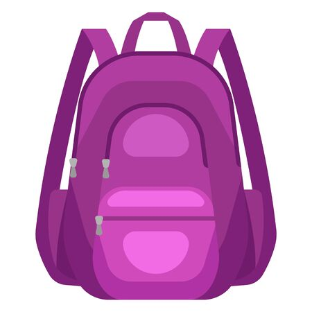 Illustration of travel textile backpack. Icon or image for tourism and shops. Vecteurs