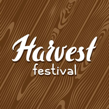 Harvest festival background with wood board. Autumn seasonal illustration. 일러스트
