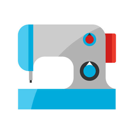 Stylized illustration of sewing machine. Home appliance or household item for advertising and shopping. 向量圖像