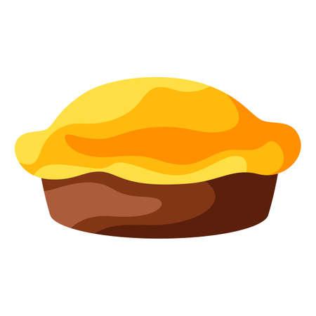 Happy Thanksgiving illustration of turkey pie. Autumn seasonal holiday food. 向量圖像