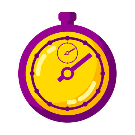 Illustration of timer clock. Stylized icon for design and applications.