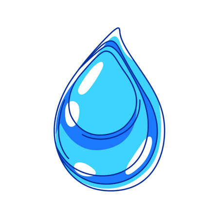 Illustration of water drop. Ecology icon or image for environment protection.