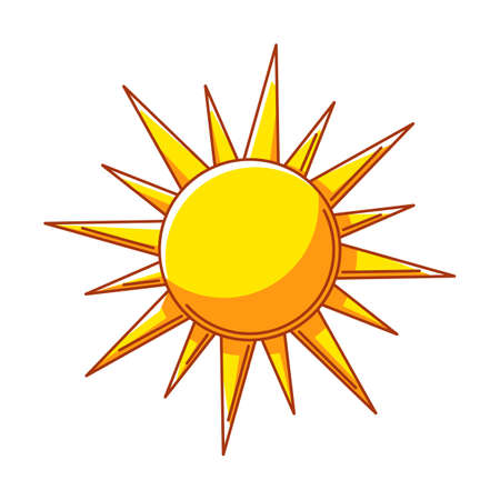 Illustration of sun. Ecology icon or image for environment protection. Ilustrace