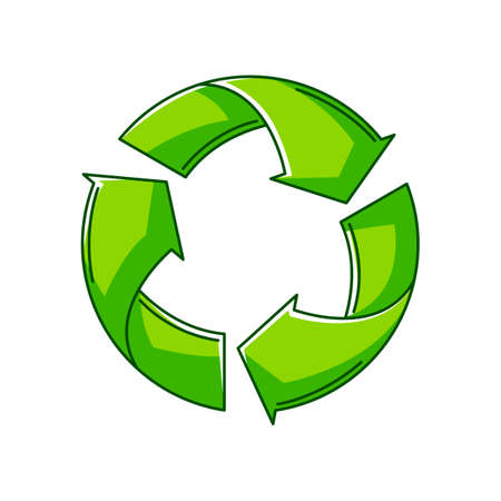 Illustration of waste recycling. Ecology icon or image for environment protection.