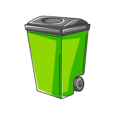 Illustration of trash can. Ecology icon or image for environment protection. Ilustrace