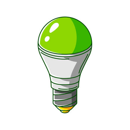 Illustration of energy saving light bulb. Ecology icon or green energy image for environment protection. Ilustrace