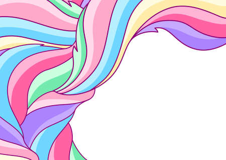 Background with abstract colored swirls. Colorful shiny bright curls. Ilustrace