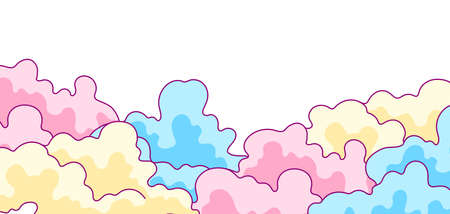 Illustration of color clouds. Background for decoration children holiday and party.