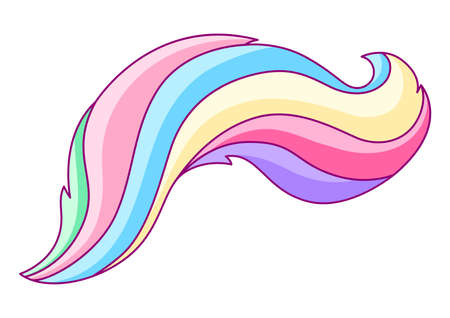 Illustration of abstract colored swirl. Colorful shiny bright curls.