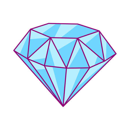 Illustration of shiny diamond. Stylized picture for decoration children holiday and party. Ilustrace