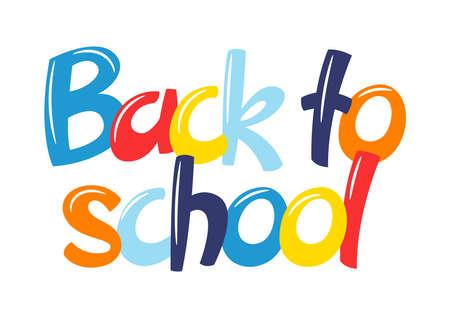 Back to school illustration. Education stylized colorful lettering. Ilustrace
