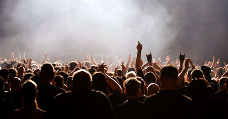 foule mains: foule acclame concert