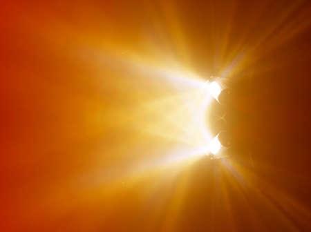 Deux lampes un peu flou Light Ray au concert  Banque d'images - 4587161