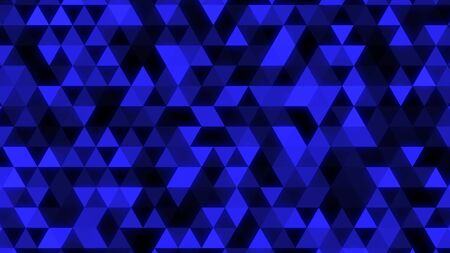 Abstract Glowing Blue Triangle Tessellation - Abstract Background Texture Stock Photo
