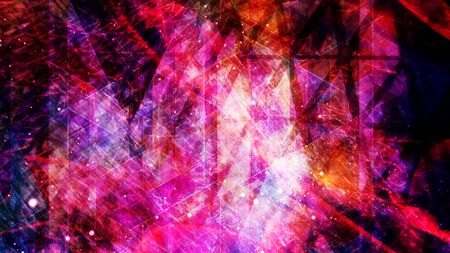 Amazing Red and Pink Energy Field with Chaotic Movement - Abstract Background Texture 免版税图像
